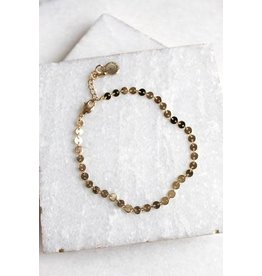 KINSEY DESIGNS ANGELES BUTTON CHAIN BRACELET
