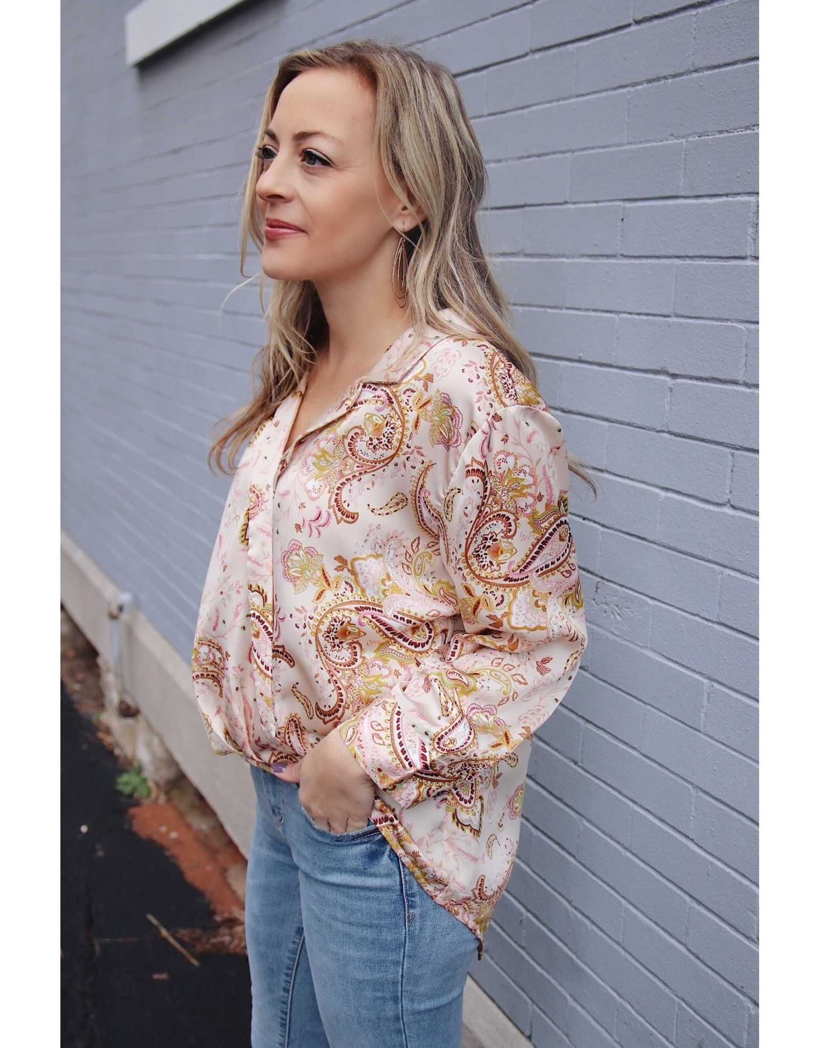 HOMEROS PAISLEY TOP