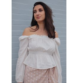 SHAWN SMOCKED TOP