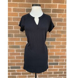 ENDORA SPLIT NK DRESS