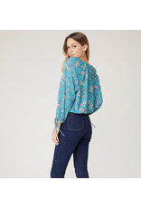 JACK BY BB DAKOTA FLORAL PHILOSOPHY TOP