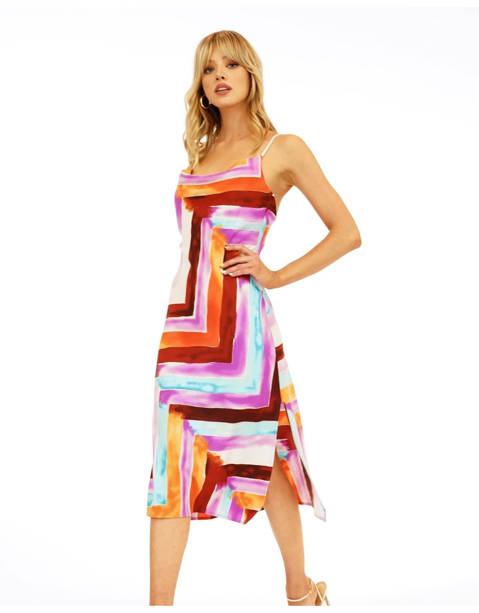 VERONICA M NICOLLA MIDI DRESS