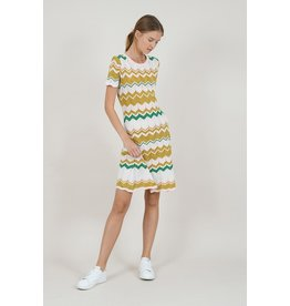 MOLLY BRACKEN ARONNE CHEVRON DRESS