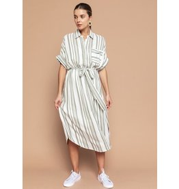 THE GOOD JANE STEPHANIE STRIPE SHIRT DRESS