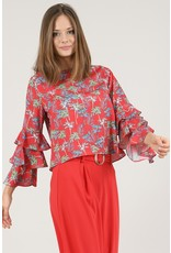 MOLLY BRACKEN BERG RUFFLE SLEEVE TOP