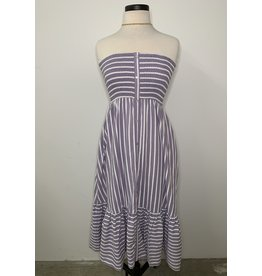 MOISES STRAPLESS SMOCKED DRESS