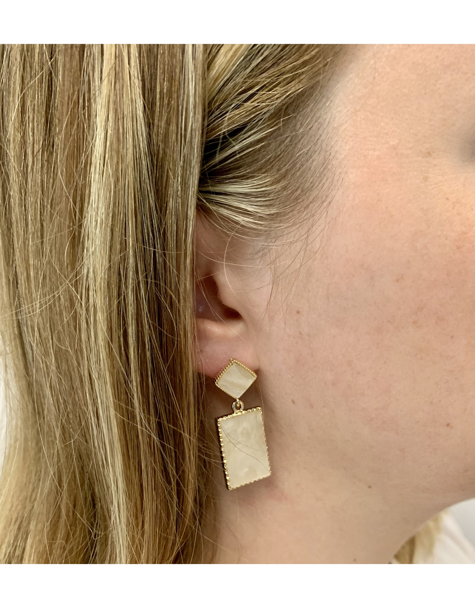 HARAL SQUARE DANGLE EARRING