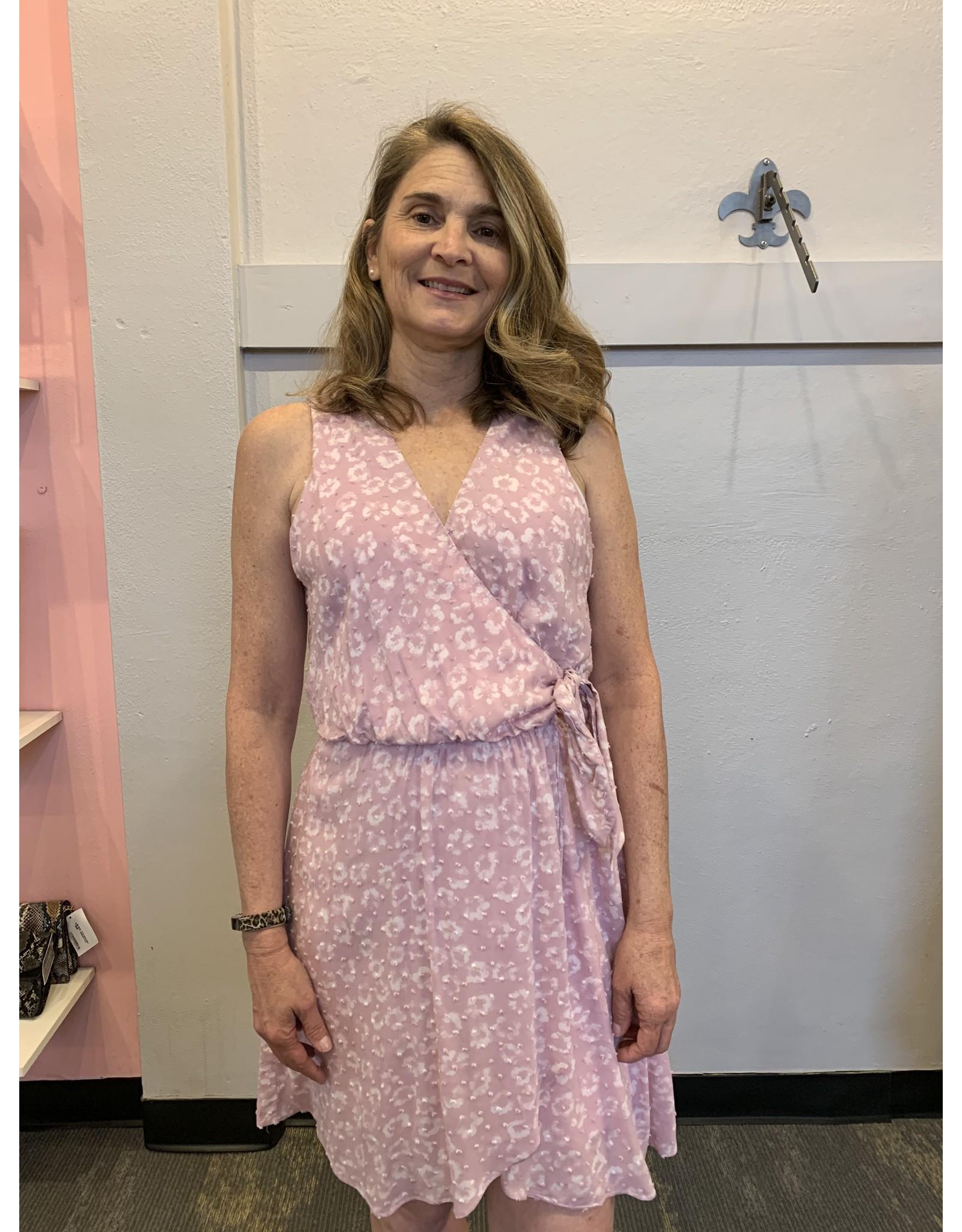 LUCASTA FAUX WRAP DRESS