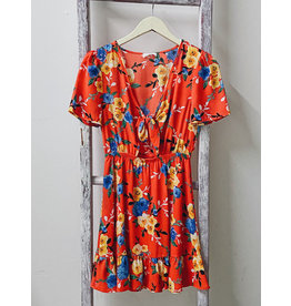 HEITOR FLORAL TIE FRONT DRESS