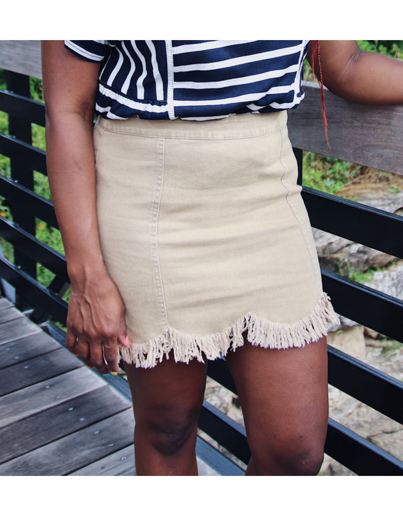 JAQUETTA FRINGE MINI SKIRT