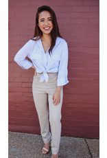 CHIONE PINSTRIPE BLOUSE