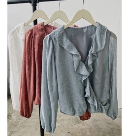 FAYETTE FRILL COLLAR TOP
