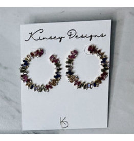 KINSEY DESIGNS HENDRIX BAGUETTE HOOP