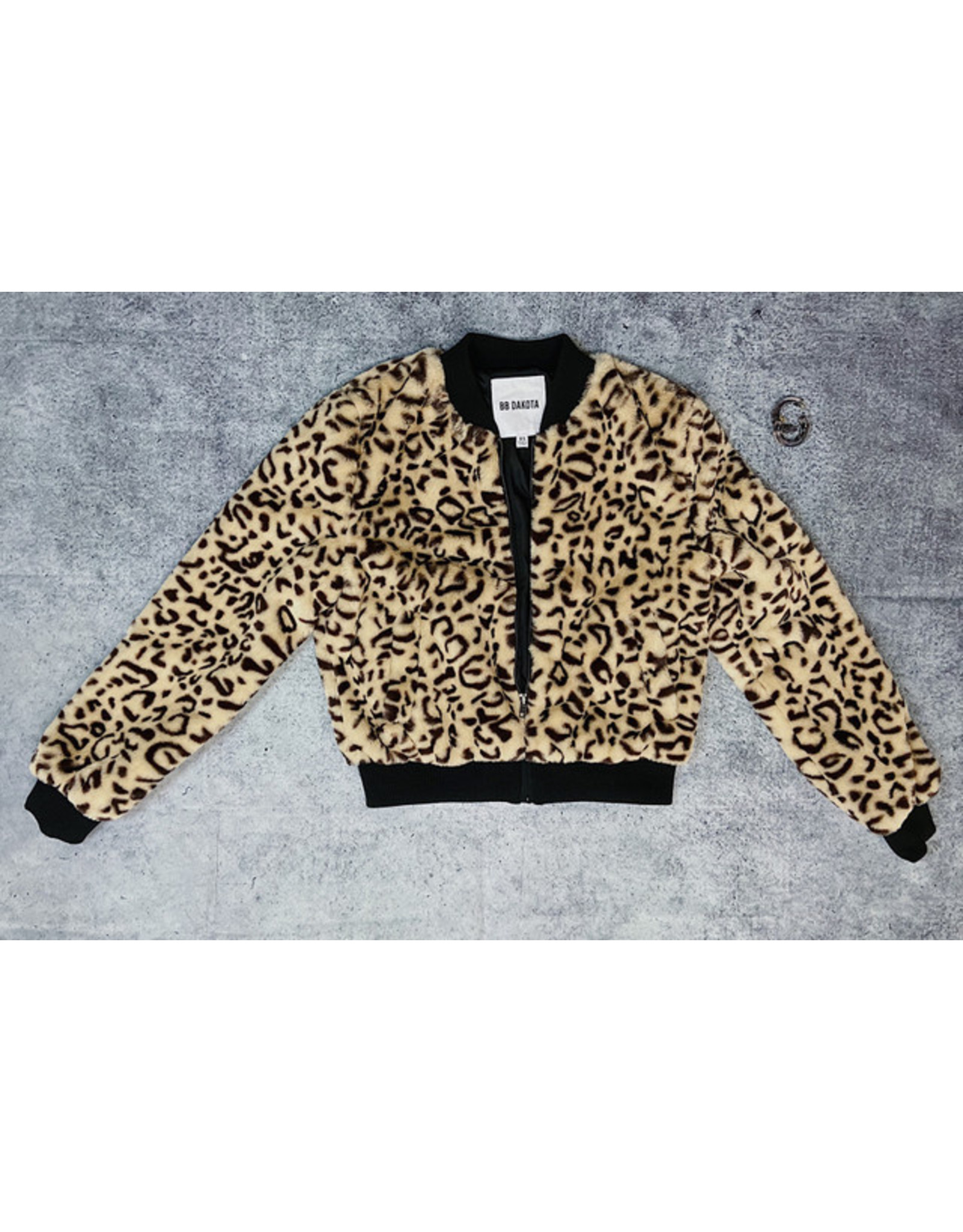 BB DAKOTA MEOW FACTOR FUR JACKET