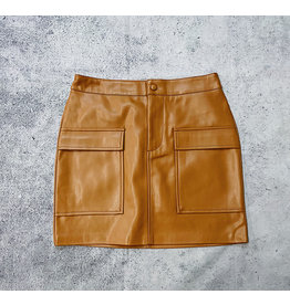 BB DAKOTA LEATHER TOO LATE MINI SKIRT