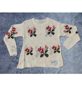 HALIN FLORAL EMBROIDERED SWEATER