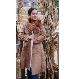 MOLLY BRACKEN HAIG FUR COLLAR COAT