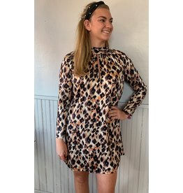 TRAFFIC PEOPLE GLIB CHEETAH PRINT DRESS