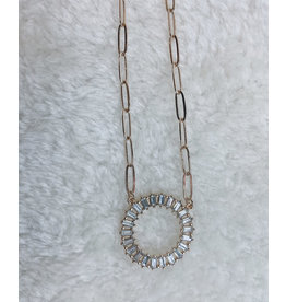 "TAHMID 16"" BAGUETTE NECKLACE"