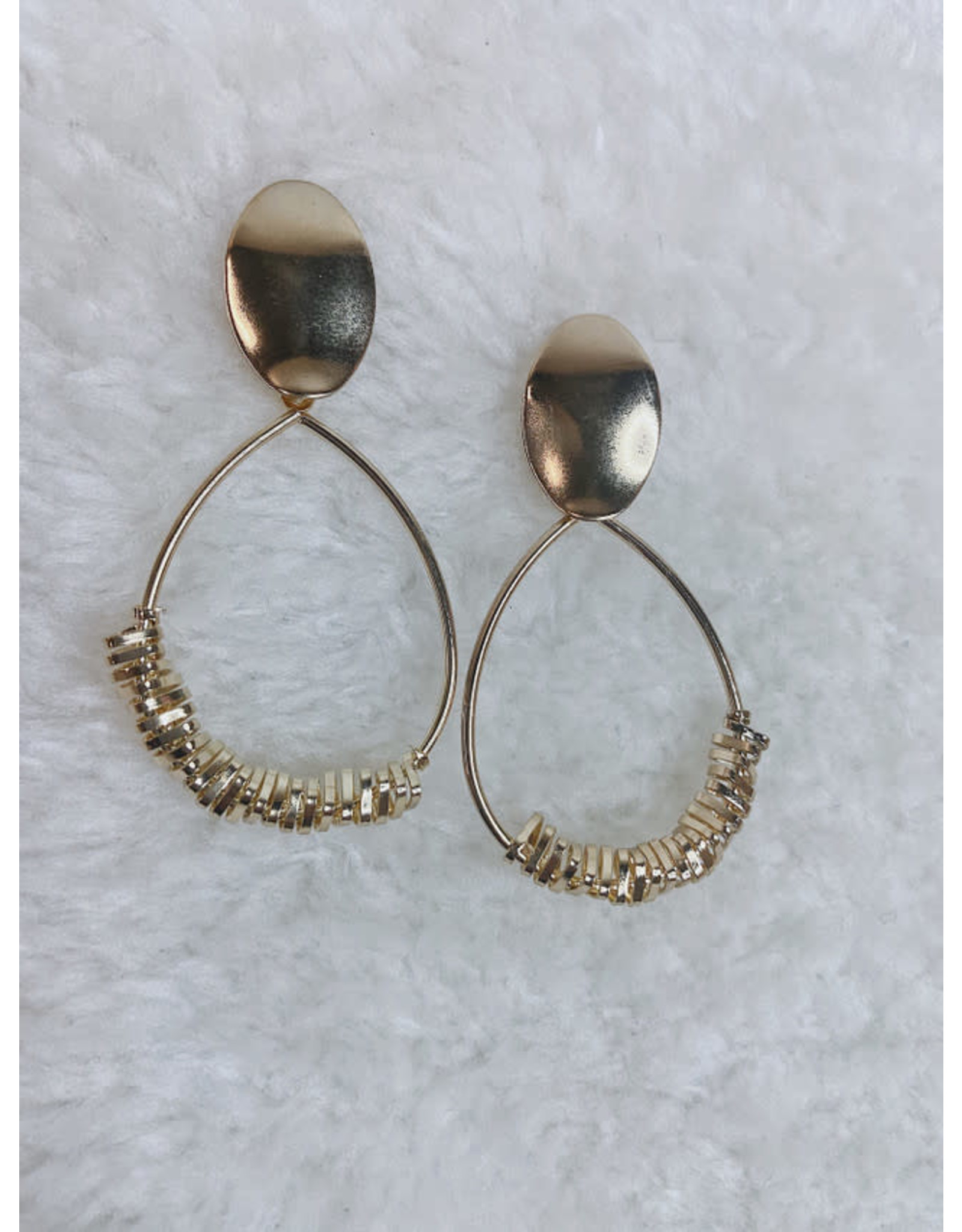 NAFASI TEAR DROP DISC EARRING