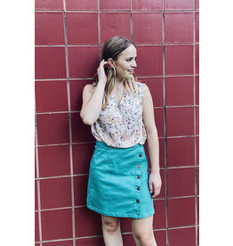 BANDITA DENIM BUTTON DETAIL SKIRT