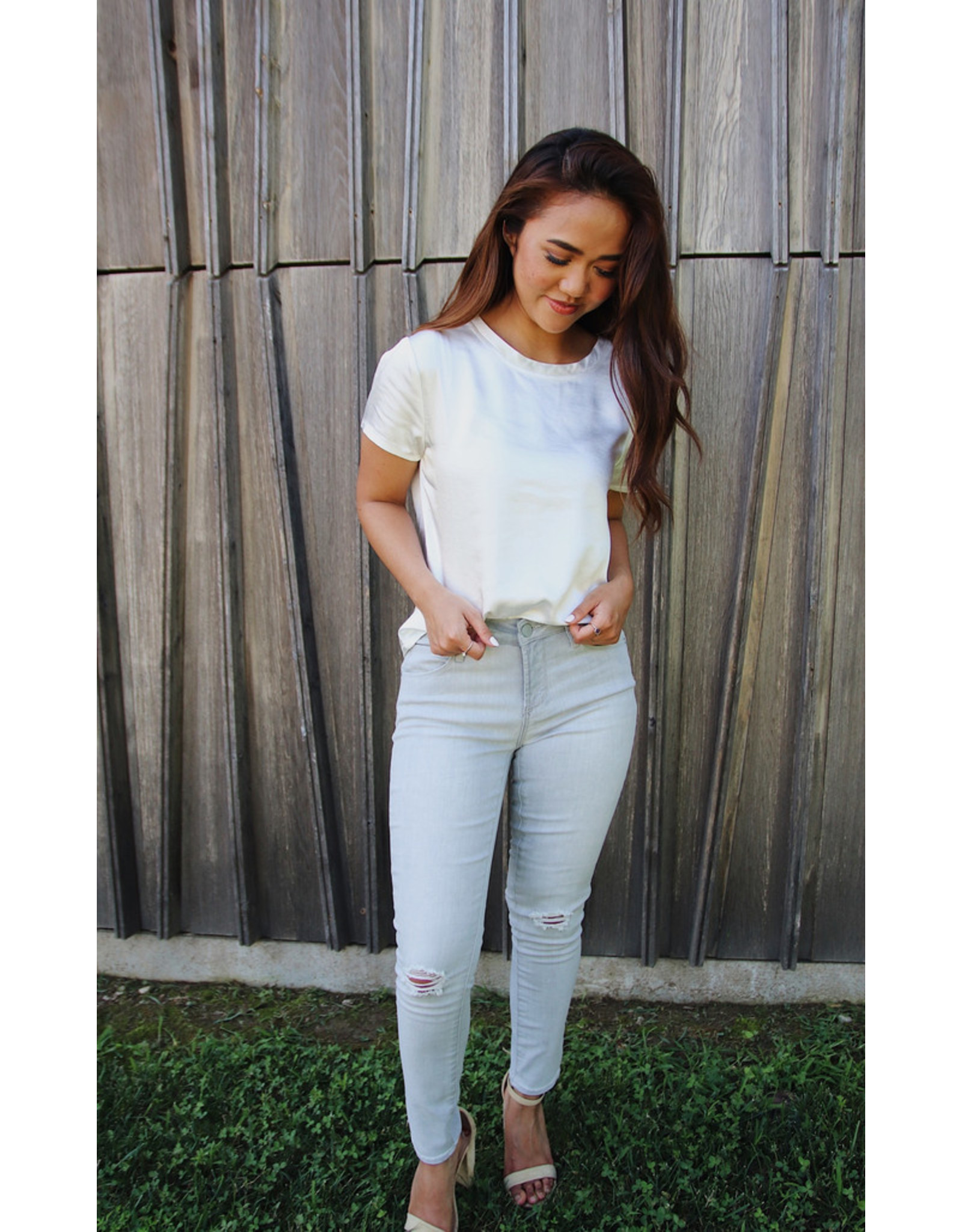 Articles of Society CARLY SKINNY DISTRESSED CROP