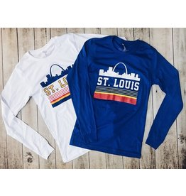 SERIES SIX STL RETRO SKYLINE LONG SLEEVE TEE