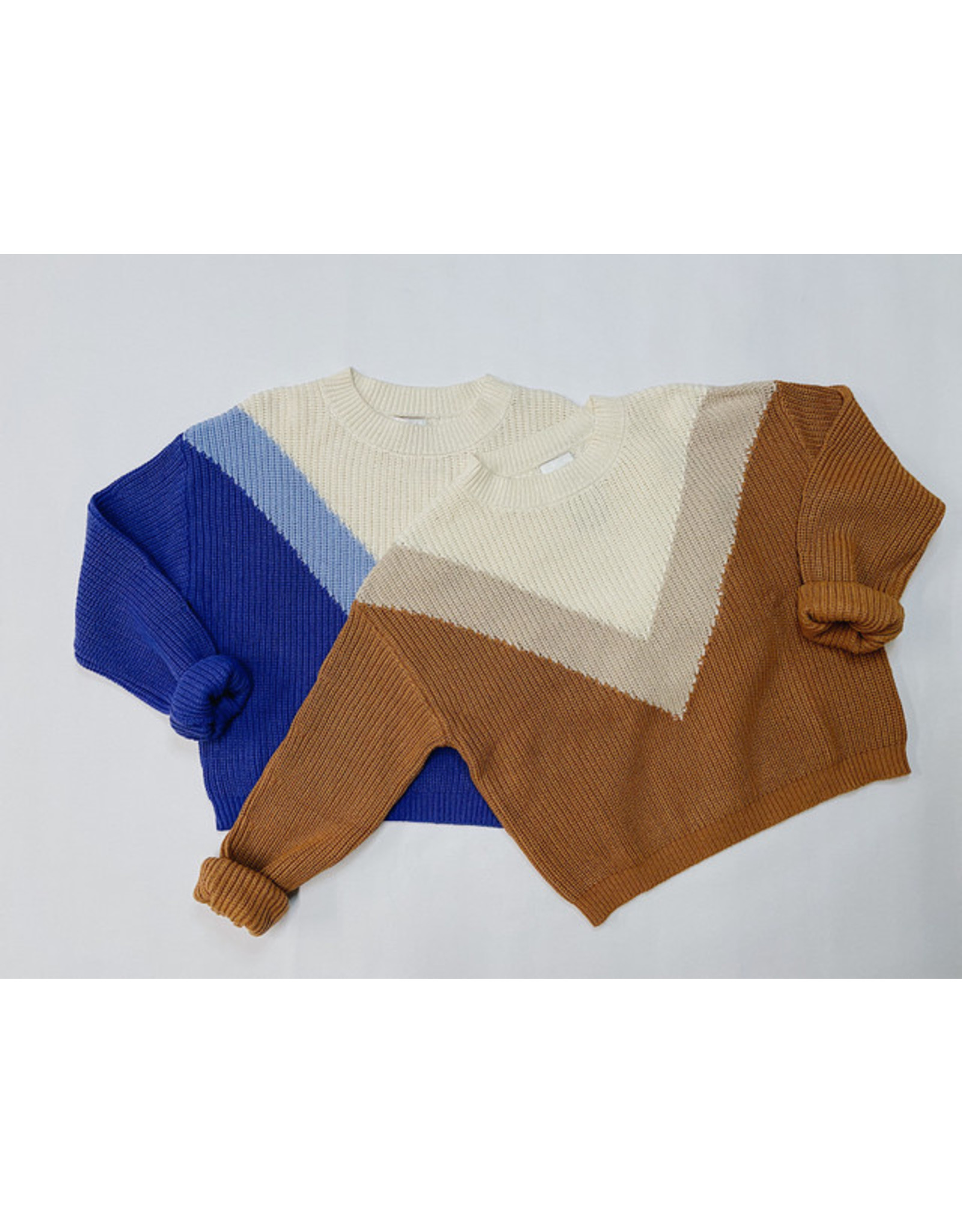 HAIDERA COLOR BLOCK SWEATER
