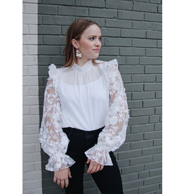 EDIMEIA SHEER SLEEVE TOP