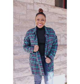 CAIMBRIE PLAID DUSTER