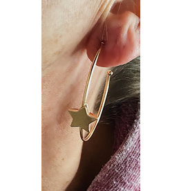 PAULETTE STAR HOOP EARRING
