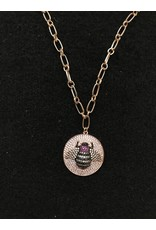 GEMELLI BEE COIN NECKLACE