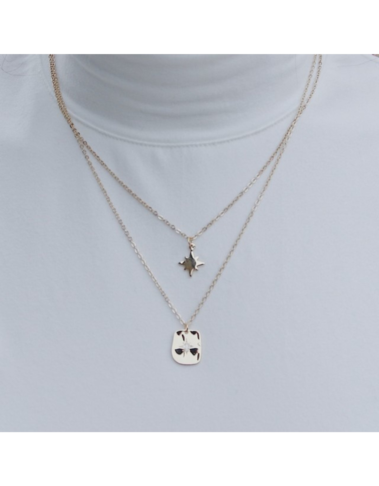 CAINE 2 LAYER NECKLACE