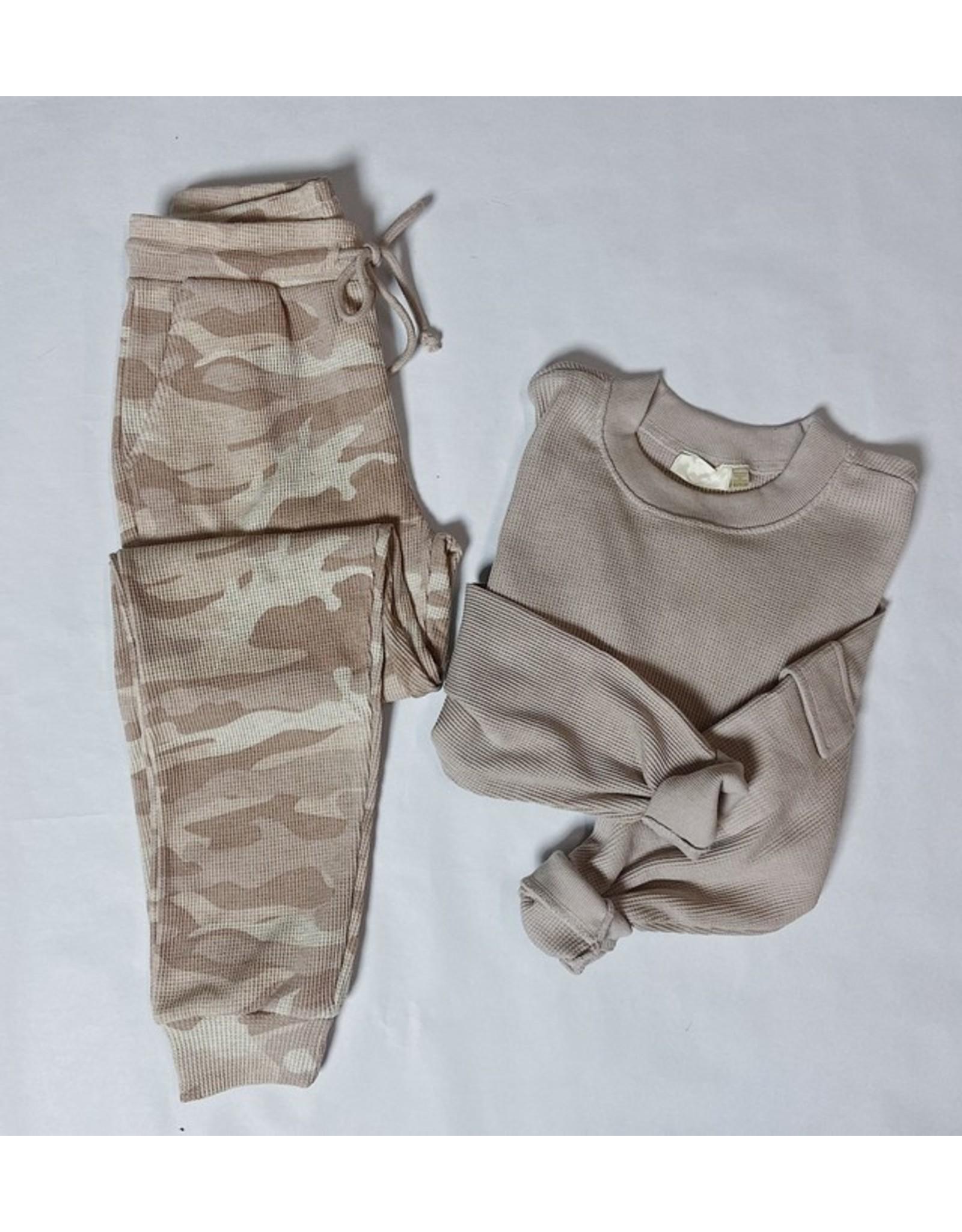 ELISABETTE CAMO PRINT JOGGER PANTS
