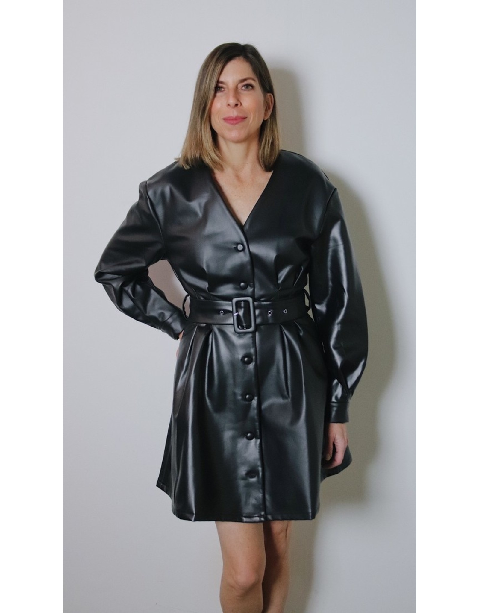 NACHLA BELTED DRESS
