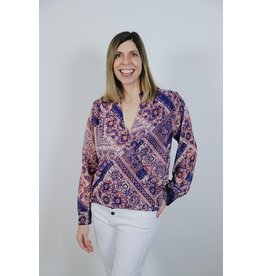 VERONICA M RIDA SURPLICE BLOUSE
