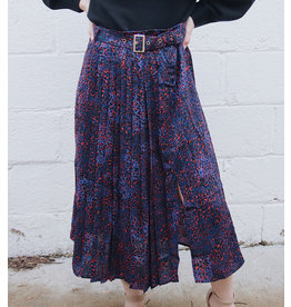 MOLLY BRACKEN GAIWAN PANTHER PRINT SKIRT