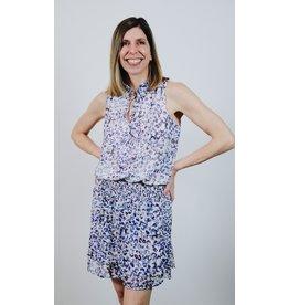 VERONICA M NERGIS PLEATED HALTER DRESS