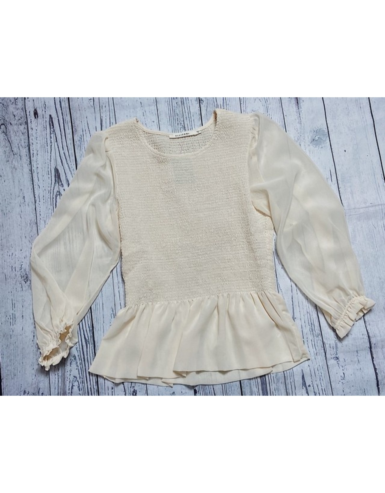 ULUWEHI SMOCKED PEPLUM TOP