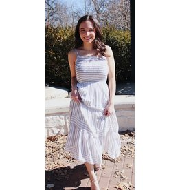 MACALL STRIPE MIDI DRESS