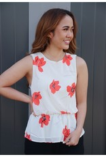 YAHTO FLORAL PRINT TOP