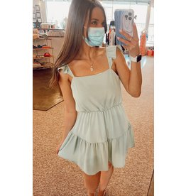 AIYANA RUFFLE STRAP DRESS