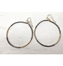 FANNING BEADED HOOPS