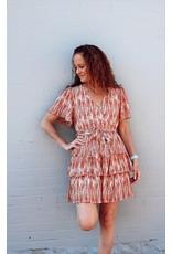 ORSON RUFFLE DETAIL DRESS