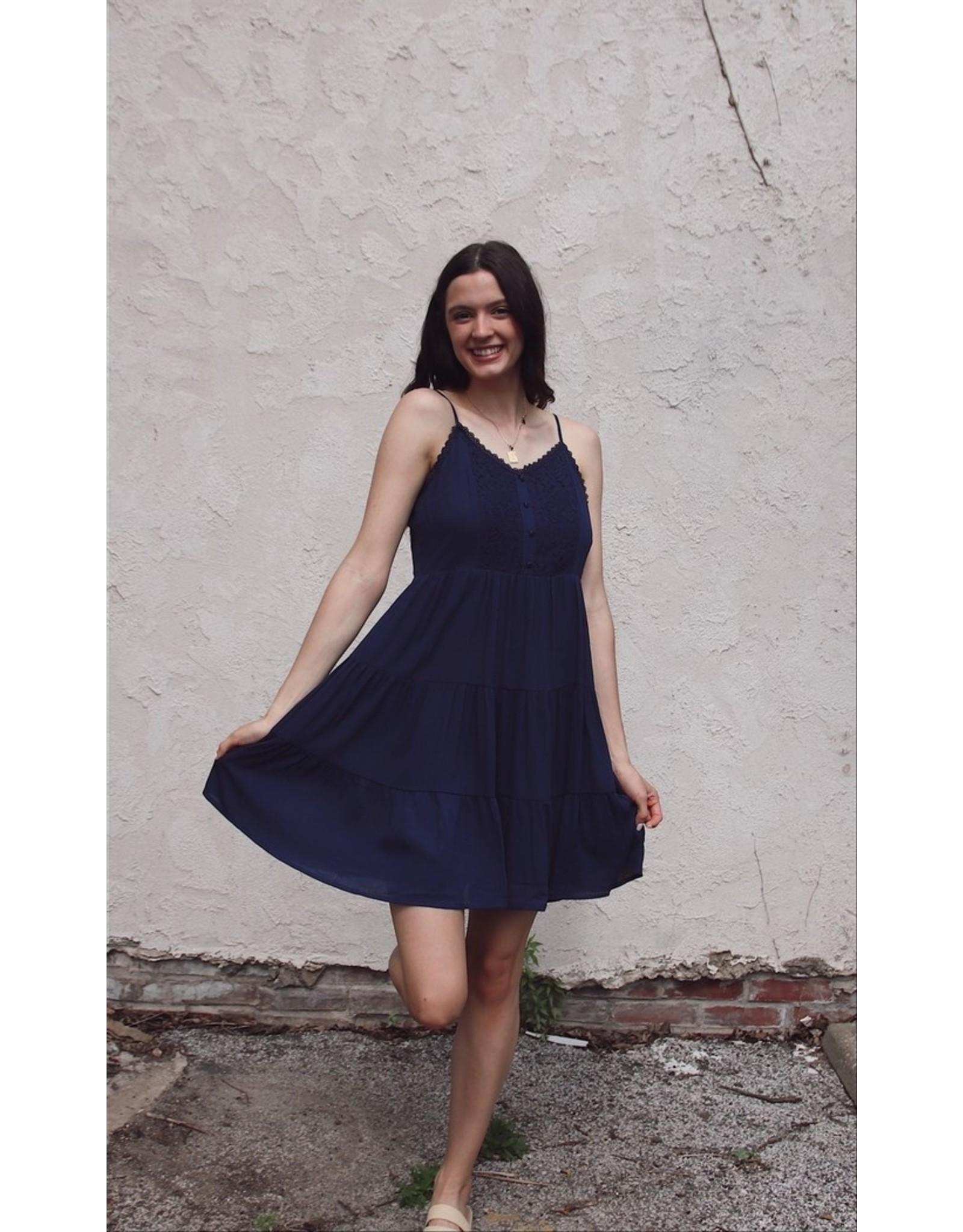 NAJINCA LACE FRONT DRESS