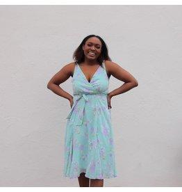 QAWMIN FLORAL DRESS