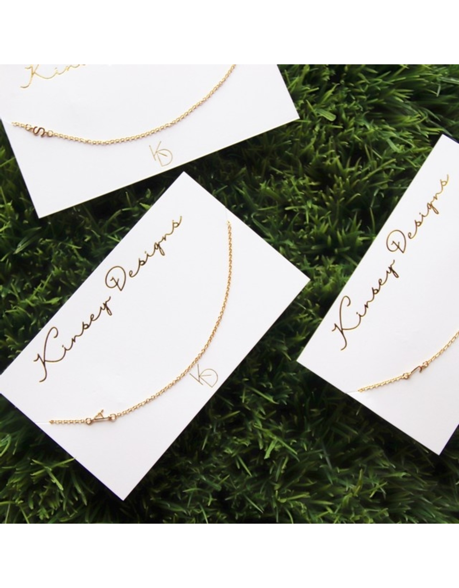 KINSEY DESIGNS IBIS DAINTY INITIAL NECKLACE