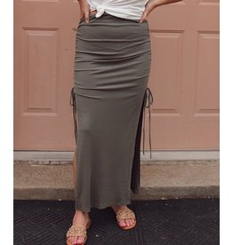 ROHAN MAXI SKIRT WITH SIDE SLITS