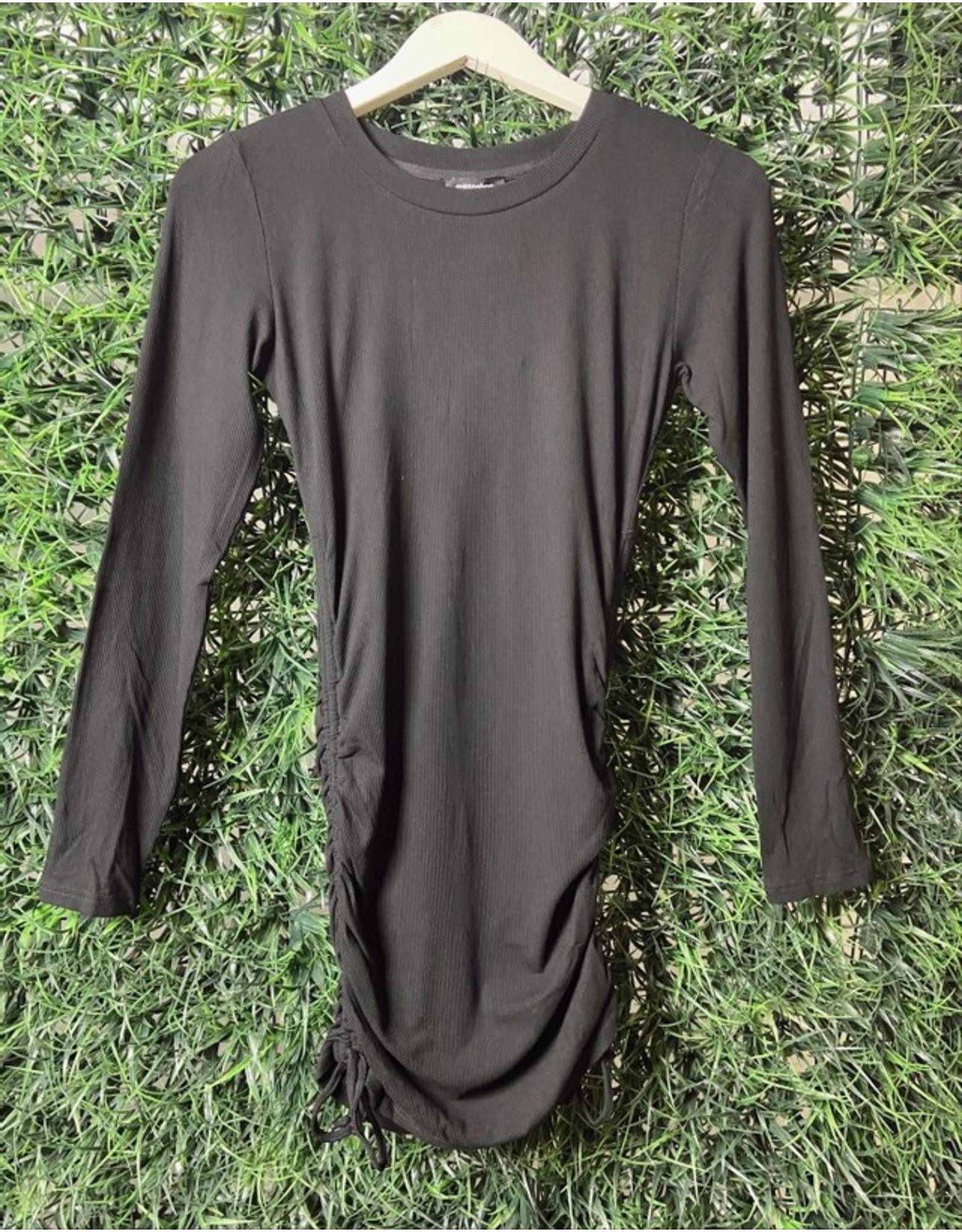 LANDON RIB RUCHED DRESS