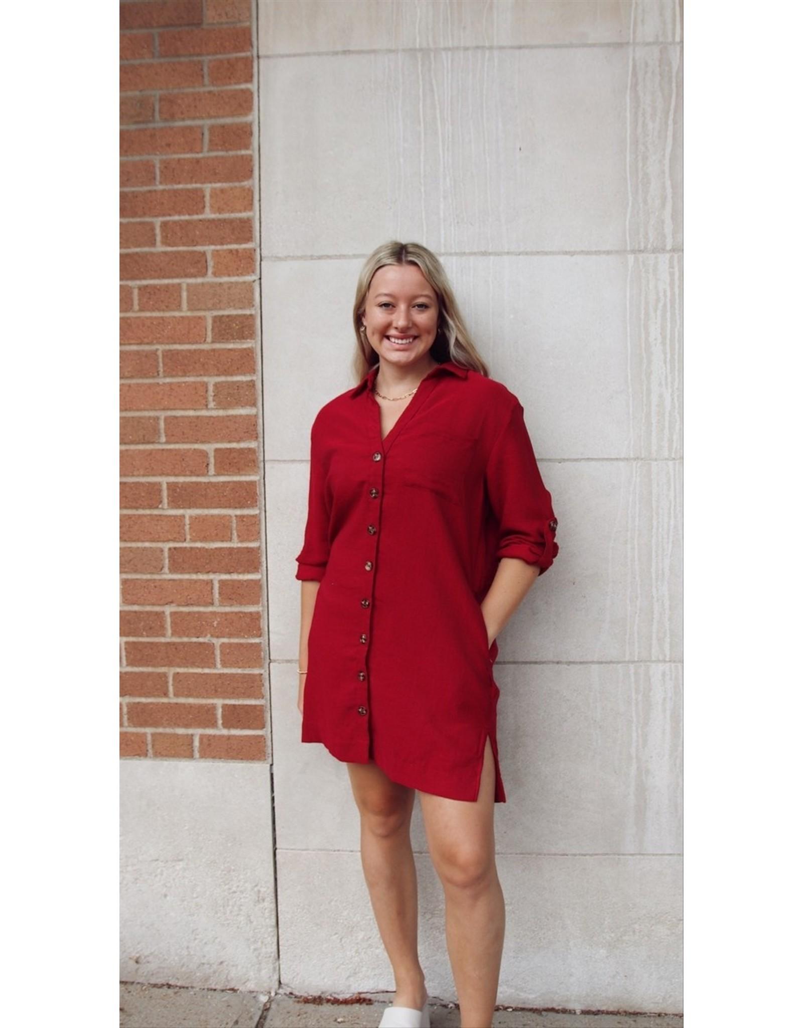 BLEU LT CORDUROY DRESS
